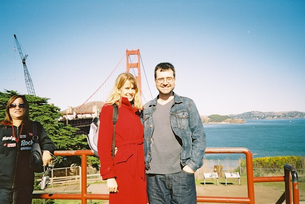 Both of us in San Francisco - everyone had their picture taken here, there was a queue!