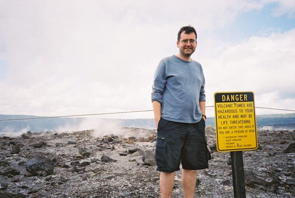Standing on the edge of the Volcano - those rocks were HOT!