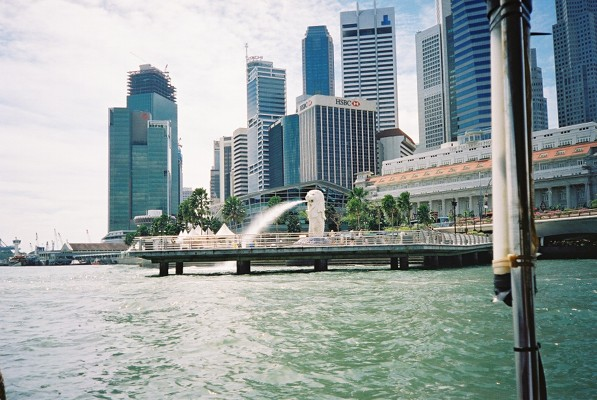 The Mer Lion, symbol of Singapore!