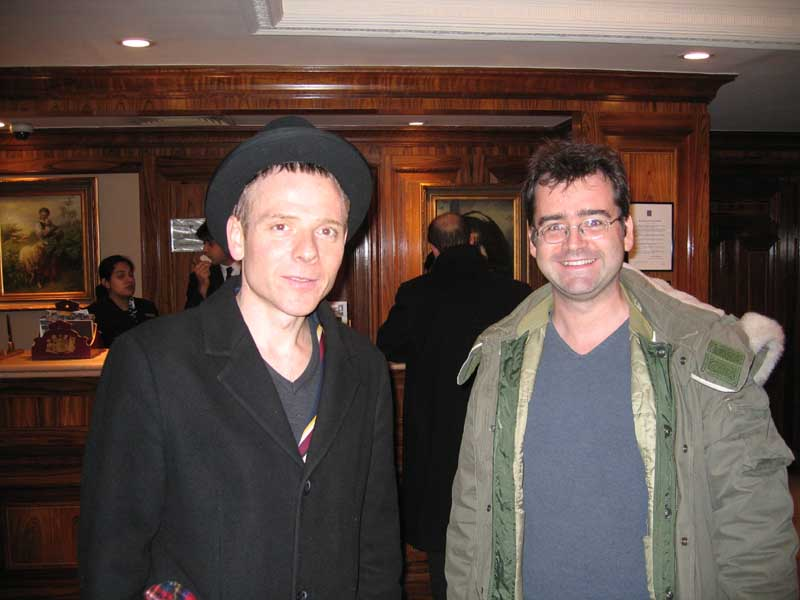 January 2006 - my cousin Ian was staying in the same hotel as Stuart Murdoch