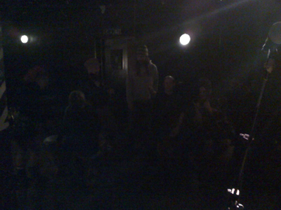 On tour with The Fighting Cocks, in Brighton. This was the audience.