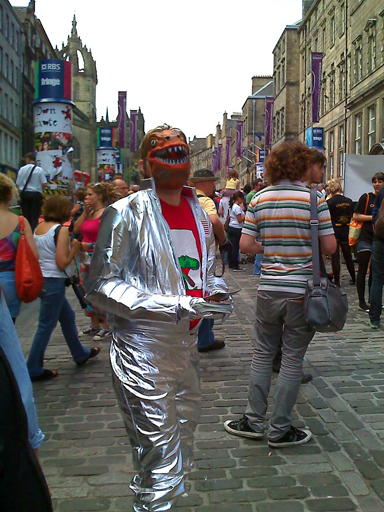 Space Dinosaurs stalk The Royal Mile!