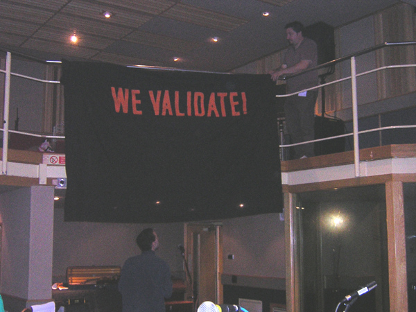 Our banner adorns Maida Vale